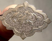 Antique Victorian Hand Engraved RGP CHATELAINE PIN c1870-90