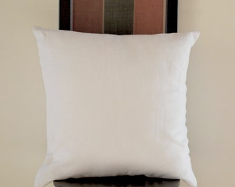 Throw pillows -White -Decorative pillow -Linen Cushion zipper -26X26 -Cushion cover -Decorative pillow linen -Euro sham -Anniversary -Gift