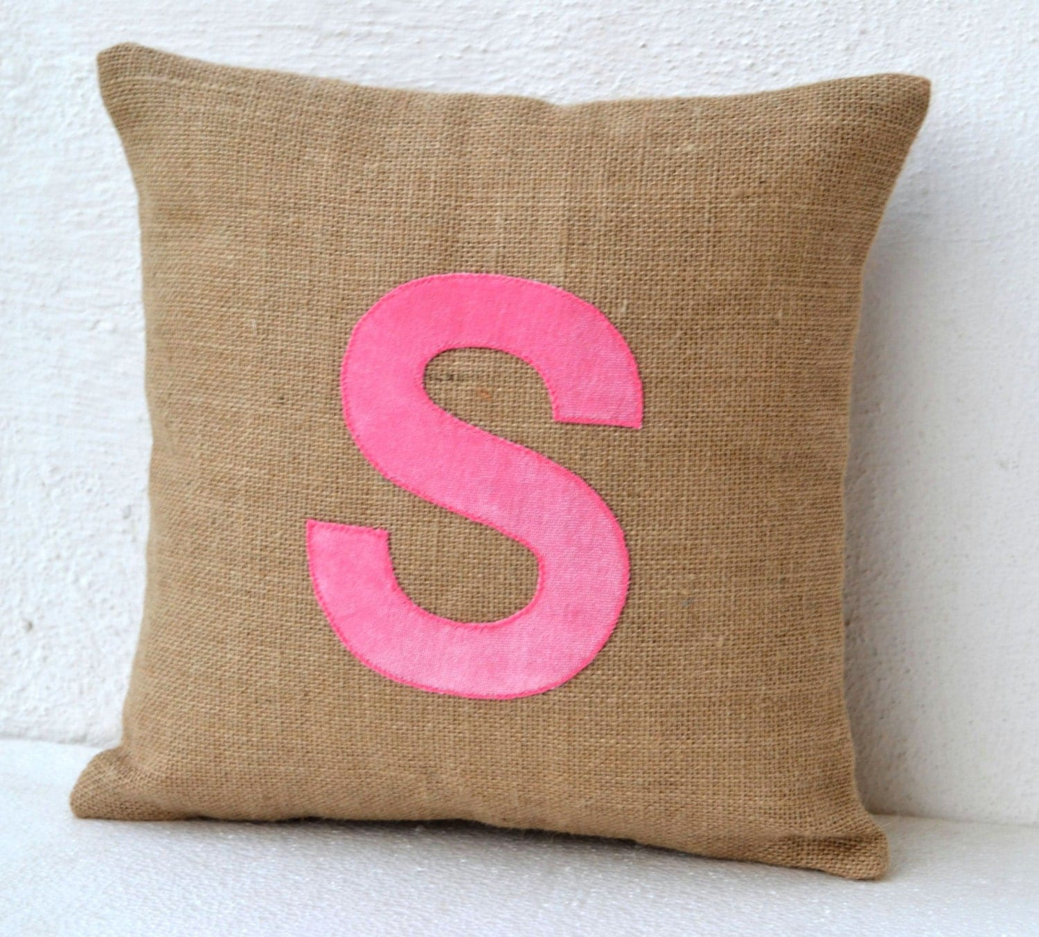 Decorative Pillows With Monogram : Customized Monogram throw pillow Burlap pillow by AmoreBeaute