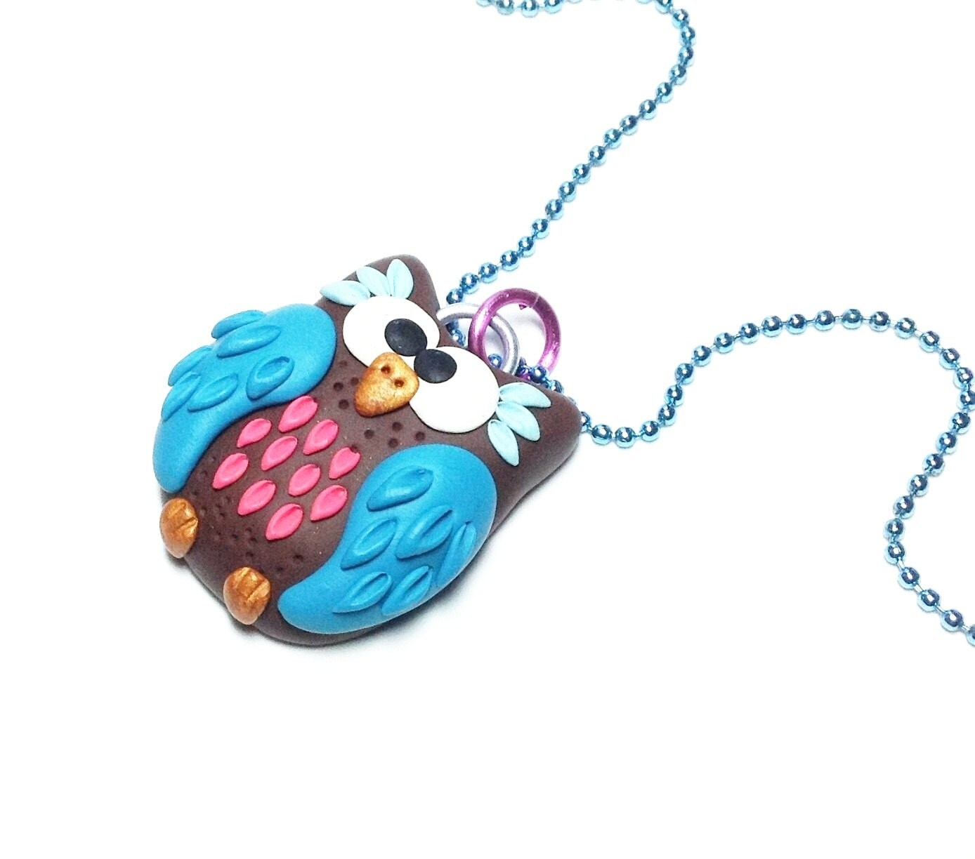 owl jewelry polymer clay fimo jewelry polymer by