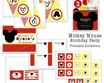 PRINTABLE Full Collection - Mickey Mouse Party Collection - Dandelion Design Studio