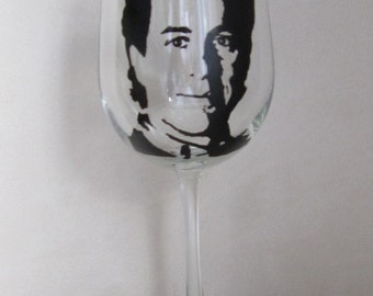 Hand Painted Wine Glass - JERRY SEINFELD - TV Star, Actor, Writer, Film Producer
