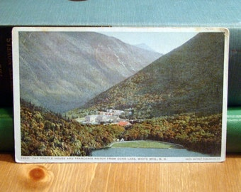 Vintage Postcard, Echo Lake, White Mountains, New Hampshire 1910s Paper Ephemera