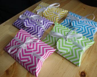 SALE - Chevron Pillow Boxes - Qty: 10 - Party Favors - Treat Boxes - Gift Boxes