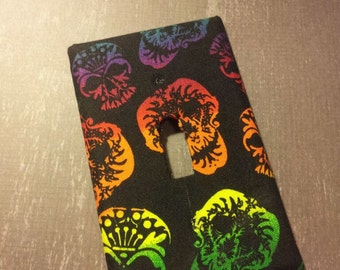 Multi Color Skull Switch Plate