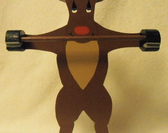 Rudolph Candy Cane Holder