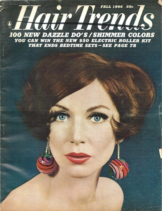1960 S Hair Trends Magazine Fall 1966 By Hookstitchtreasure