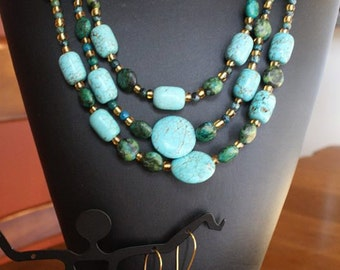 Turquoise Necklace and Earrings - PRICE REDUCED