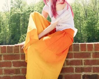 Yellow Gold Wide Legged Lounge Pants, Beautiful Bridesmaids Gift, Hobo Chic