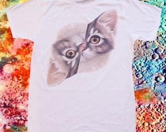 Kitty Yin Yang T-shirt