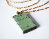 Lolita mini book necklace