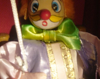 Vintage Czech Marionette Clown