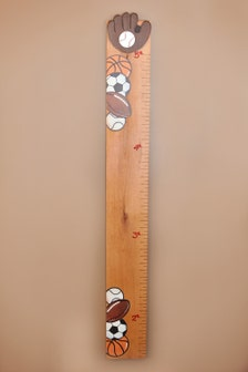 Personalized Sports Growth Chart On Natural Wood