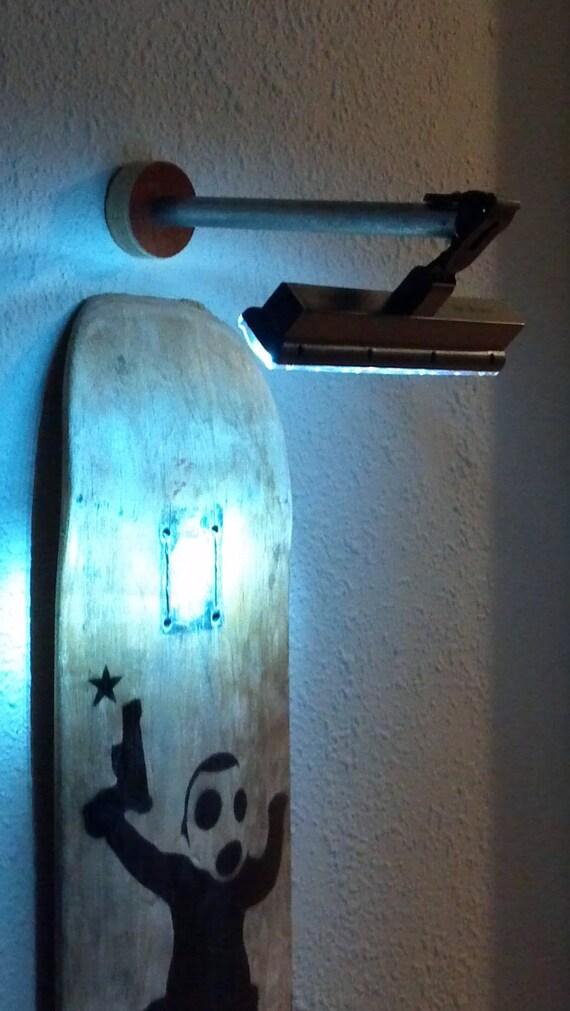 cordless wall artwork lamp light industrial lighting. Black Bedroom Furniture Sets. Home Design Ideas