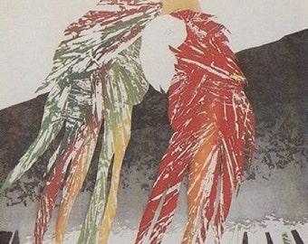 "Charlotte Reine ""Duo""--Original Signed Etching (1985)"
