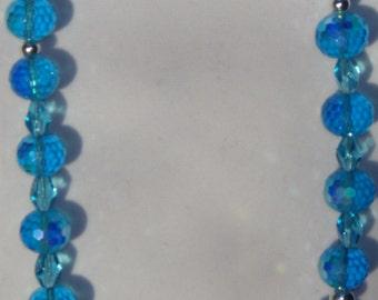 Long Teal Necklace, Teal Blue Necklace, Light Blue Necklace, Teal Necklace
