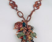 Desert Sunset Eco Glass and Copper Necklace