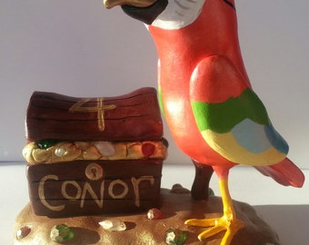 Pirate Parrot Cake Topper