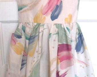 Una dress from upcycled fabric