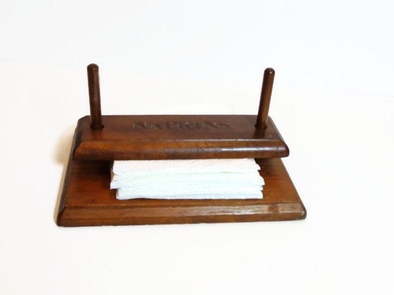 Unique Wooden Napkin Holder Wood Dowels Weighted by  : il570xN459962544jrqj from www.etsy.com size 570 x 428 jpeg 23kB