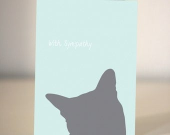 Pet Sympathy Card  - For dog and cat lovers