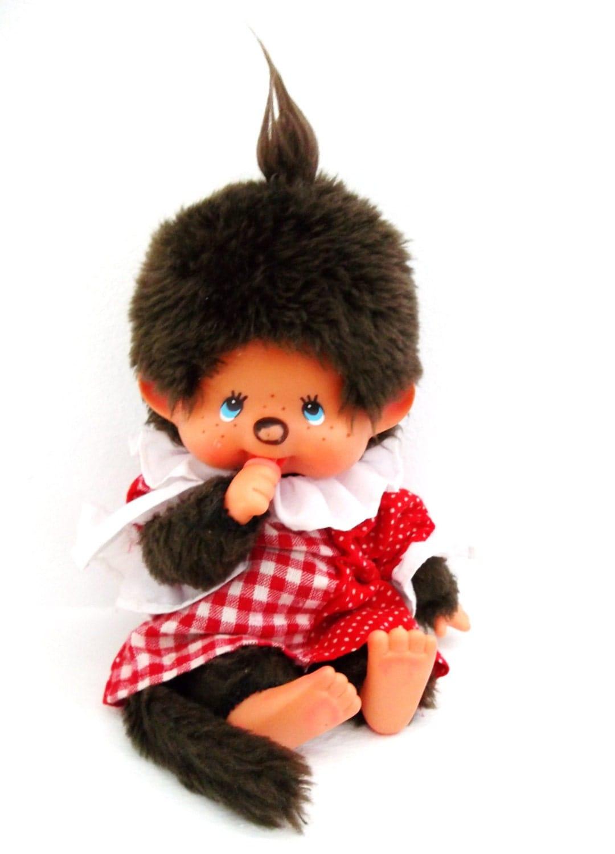 Vintage Monchhichi Sekiguchi Monkey Doll Original 1974