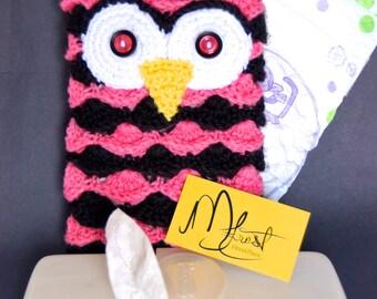 Owl Diaper & Wipe Clutch