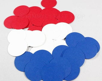 100 Fourth of July Confetti, Red White and Blue Circle Confetti, 4th of July decorations, July 4th Patriotic Party supplies, Wedding