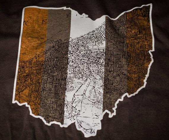 Cleveland Ohio Map T-shirt