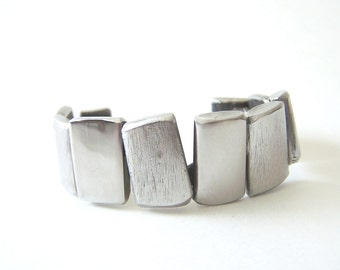 Upcycled Metal Stainless Steel Bracelet Cuff: Fabricated from Repurposed Materials