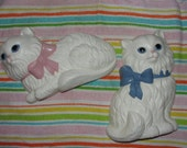 RESERVED for Sherri--Vintage Homco Burwood Kitten wall plaques