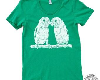 Women's LOVEBIRDS American Apparel Poly-Cotton Tee