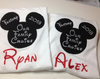 Embroidered Disney Cruise Shirt - Personalized - Adult