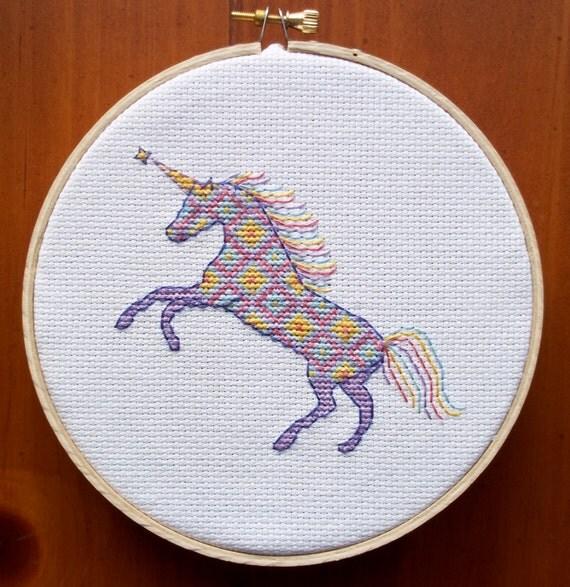 Unicorn Cross Stitch Pattern Digital Download Pdf Girl