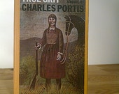 Rare Vintage Book. True Grit, A Novel by Charles Portis, FIrst Edition. Yellow. Illustrated Cover.