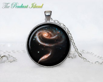 ASTRONOMY JEWELRY  Astronomy necklace Astronomy jewelry Nebula in the constellation Andromeda  Galaxy necklace  universe pendant for men