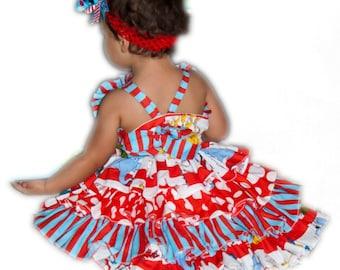 Dr Seuss Ruffle Back Dress