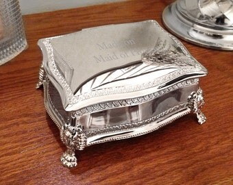 Silver Plated Buckingham Jewelry Box