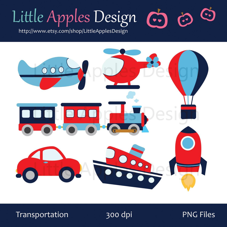 Transportation Clip Art / Transportation Clipart / by DreamyDuck: https://www.etsy.com/listing/121590444/transportation-clip-art...
