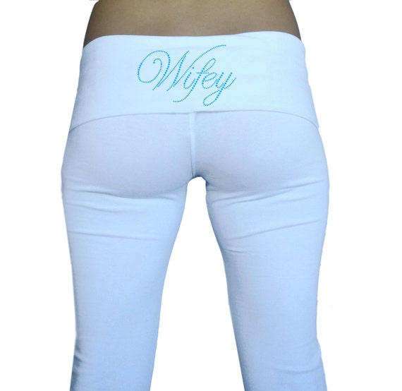Wifey yoga pants | Etsy