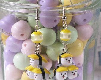 Kawaii Triple Sushi Dangle Earrings