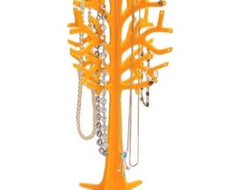 Yellow Acrylic Jewellery Tree