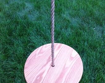 Round Tree Swing - Oak
