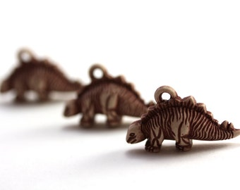 Dinosaur Pendants. Dinosaur Charms. Animal Charms. One loop. 3 Pieces.