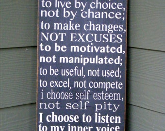 I Choose..... Hand Painted Typography Sign