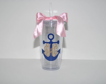 20 oz. Anchor Clear Tumbler (personalized)