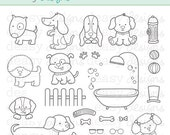 "Digital Stamp Art "" Canine Friends"""