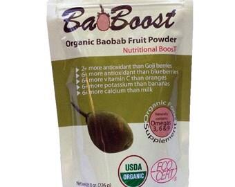 "BaoBab Fruit Powder ""BaoBoost 8 Oz""  -The Nature's Multivitamins-"