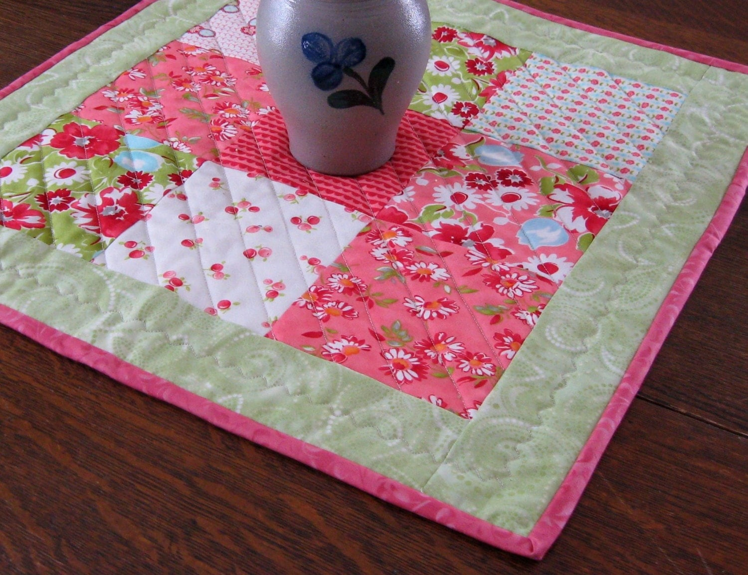 Quilted Candle Mat Patchwork Pattern In By Warmandcozyquilts