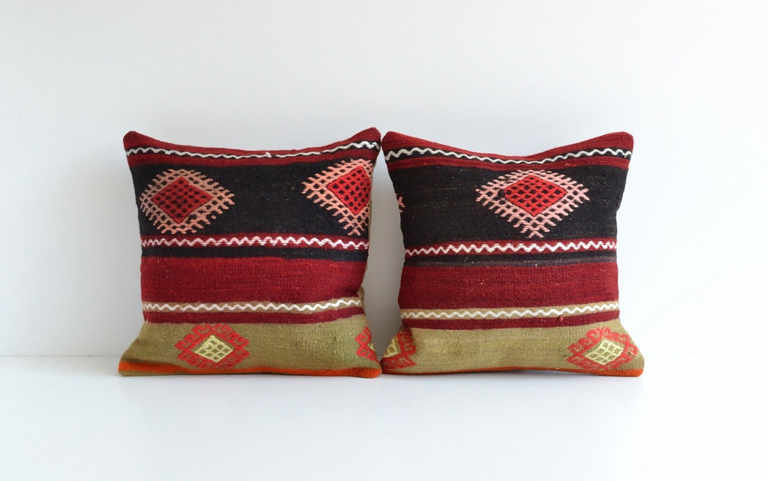 Decorative Pillows Kilim : Kilim Throw Pillows Set Of 2 Bohemian Chic Home Decor by pillowme